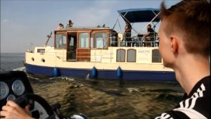 Ausbildung bei Kuhnle-Tours, mit dem Hausboot unterwegs auf der Müritz