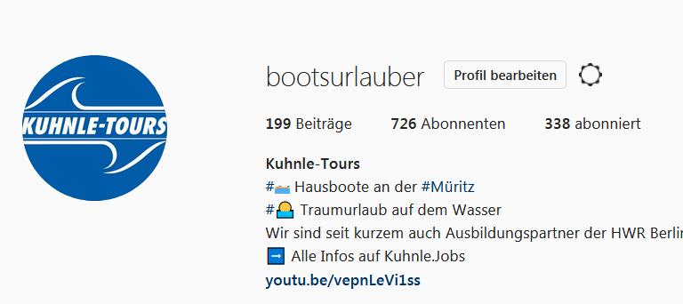 """Seminar """"Erfolgreich auf instagram"""""""